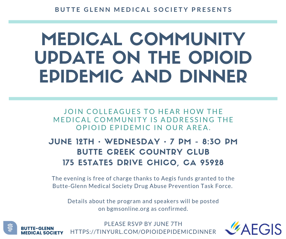 Medical Community Update on the Opioid Epidemic and Dinner